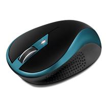 Mouse Ótico Sem Fio Movitec Office Preto e Azul OMW-02 -