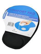 Mouse Pad com Apoio Ergonômico Confort pad Preto - Exbom