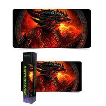 Mouse Pad Extra Grande 700x350x3mm Cataclysm World of Warcraft (Dragão de Fogo) - Exbom