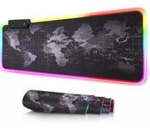 Mouse pad gamer com iluminação led rgb 7 cores 80 x 30 mundi - 01260 - Xway