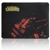 Mouse pad Gamer  DEX preto League Of Legends