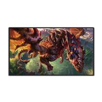 Mouse Pad Gamer Dragão League Of Legends - Extra Grande 70x35 Cm 3mm - Exbom
