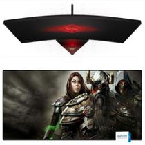 Mouse Pad Gamer Extra Grande Barato 90x40cm Speed Estampa Cavaleiros Mousepad Exbom MP-9040A07