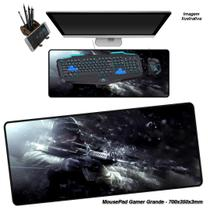 Mouse Pad Gamer Grande 70x35cm Personalizado Emborrachado Speed Estampa Games -01 - Verde