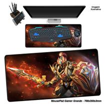 Mouse Pad Gamer Grande 70x35cm Personalizado Emborrachado Speed Estampa Games -02 - Verde