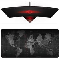 Mouse Pad Gamer Grande Barato 70x35cm Estampa Mapa Mundi Speed - Mousepad Exbom MP-7035C28
