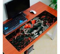 Mouse pad gamer street fighter (guerreiro) exbom -  70 cm x 35 cm -