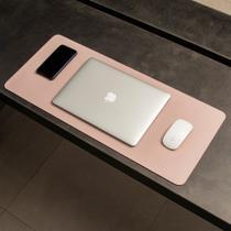 Mouse Pad Gigante Desk Pad BULLPAD ROSA 70x30cm em Sintético -