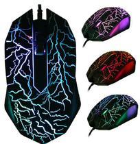 Mouse para jogo colorido c/fio - usb 2400 dpi - TOM