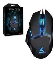 Mouse Para Jogo Infokit Gm-601 X-soldado Preto -