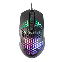 Mouse Para Jogo Preto 7 Botões Gamer Com Led E Iluminação RGB 6400 DPI - Dust