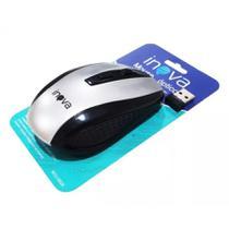 Mouse Sem Fio Inova Mou 6924 - Prata -