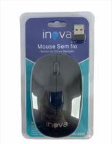 Mouse Sem Fio Inova preto 1200-1600-800 dpi -