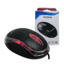 Mouse Usb com Fio Óptico 3 botões Mymax -