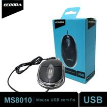Mouse Usb Óptico MS8010 Ecooda Notebook Pc Led Acrílico Scroll