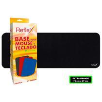 Mousepad Liso Extra Grande Preto para Teclado e Mouse Profissional Antiderrapante 70x27cm Reflex -