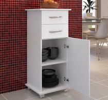 Móveis De Cozinha Armário Chão 2 Gavetas Branco - Clickforte