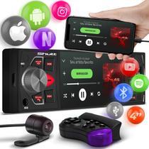 """MP3 MP4 MP5 Player Automotivo Shutt Los Angeles 4"""" Espelha Android IOS Bluetooth Controle Câmera Ré -"""