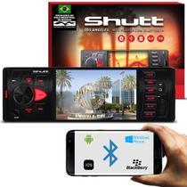 MP3 MP4 MP5 Player Automotivo Shutt Los Angeles 4 Pol Bluetooth USB Entrada Câmera Ré SD Rádio FM -