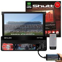 MP3 MP4 MP5 Player Shutt Daytona TV 1 Din Retrátil 7 Pol Touch Bluetooth TV Espelhamento Android USB