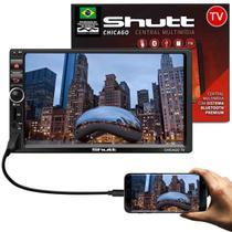 "MP3 MP5 Player Automotivo Shutt Chicago TV 7"" 2 Din Full Touch BT SD Espelhamento Android Via USB -"