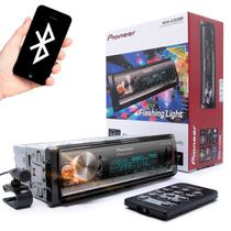 MP3 Pioneer MVH-X300BR Flashing Light Mixtrax USB AUX RDS Entrada para controle de volante Bluetooth Som Automotivo