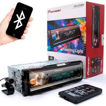 MP3 Pioneer MVH-X700BR Flashing Light Mixtrax USB AUX RDS Entrada para controle de volante Bluetooth Som Automotivo 3 RCA