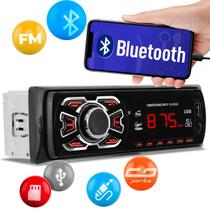 MP3 Player Automotivo 1Din Bluetooth USB SD Auxiliar P2 Rádio FM Controle Remoto Ruchi NT90003BT -