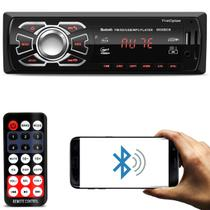 MP3 Player Automotivo 6630BCN Led 1 Din Bluetooth USB Cartão SD Auxiliar P2 Rádio FM MP3 RCA - First option