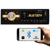 MP3 Player Automotivo Hurricane HR-420 BT Bluetooth USB SD AUX FM RCA 1 Din Tela LED 4x25 WRMS