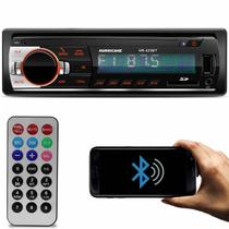 MP3 Player Automotivo Hurricane HR-425 BT 1 Din Bluetooth Led USB SD Auxiliar P2 Rádio FM