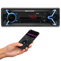 MP3 Player Automotivo Multilaser Pop BT P3336 1 Din LED Bluetooth USB Micro SD Auxiliar P2 Rádio FM