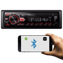 MP3 Player Automotivo Pioneer MVH-298BT 1 Din Bluetooth USB AUX RCA AM FM Interface Smartphone