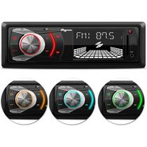 MP3 Player Automotivo Quatro Rodas MTC6608 1 Din 3 Polegadas USB SD Card AUX FM WMA RCA Busca Pasta