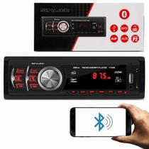 MP3 Player Automotivo Shutt Montana 1 Din 3.5 Polegadas Bluetooth USB SD Aux P2 FM 1782B -