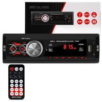 MP3 Player Automotivo Shutt Montana 1 Din 3.5 Polegadas USB SD Aux P2 Rádio FM com Controle 1788R