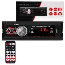 MP3 Player Automotivo Shutt Montana 1 Din 3.5 Polegadas USB SD Auxiliar P2 Rádio FM com Controle -