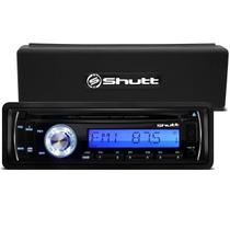 MP3 Player Automotivo Shutt Texas 1 Din LCD CD USB SD Card Auxiliar P2 Rádio FM