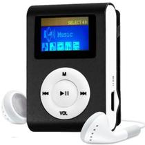 MP3 Player com Entrada SD e Fone de Ouvido Preto + Mc058 - Gbmax