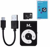 Mp3 Player Com Microsd 8gb E Cabo Micro Usb Mc300 - Multilaser