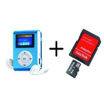 MP3 Player com Visor AZUL + Cartao de Memoria 8GB - Ukimix