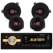 MP3 Player HR420 Bluetooth + Kit Falantes 6 e 5x5,5 Polegadas 200 Rms Astra 98 a 12 Vectra 97 a 05 - Prime
