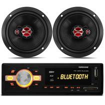 MP3 Player HR420 Bluetooth + Par Falantes 6 Polegadas Classic 03 a 13 Wagon 94 a 02 Traseira 100RMS - Prime