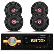 MP3 Player HR420 Bluetooth USB + Kit Alto Falante 6 Polegadas 180 Rms Fox 03 a 13 Voyage G5 09 a 12 - Prime