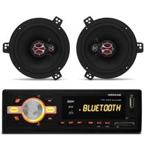 MP3 Player HR420 Bluetooth USB + Par Alto Falante 6 Polegadas 100 Rms Corsa 94 a 12 Astra 98 a 12 - Prime