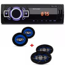 Mp3 Player Multilaser New One Usb Sd e Kit 2 Auto Falantes  6x9 E 2 6 Polegadas Orion 310w - Multilaser/orion
