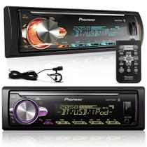 MP3 Player MVH-X30BR 1 Din com USB AUX RCA AM FM MP3 WMA Bluetooth - Pioneer