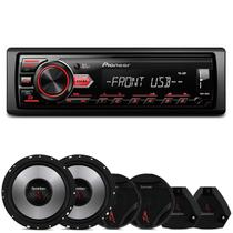 MP3 Player Pioneer MVH-98UB 1 Din + Kit 2 Vias Bomber Upgrade 6