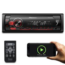 MP3 Player Pioneer MVH-S118UI 1 Din Interface Android iOS Spotify Mixtrax Receiver USB Com Controle -