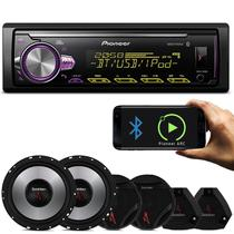 MP3 Player Pioneer MVH-X30BR 1 Din + Kit 2 Vias Bomber Upgrade Alto Falantes 6
